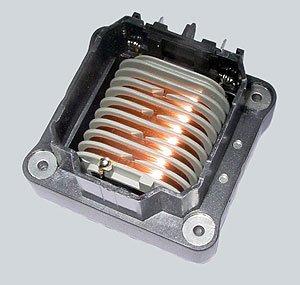 View of the interior of BBT ignition coil